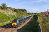 6th Oct 2021:  On a beautiful Autumn moring 2`C71 the 10.00 from Cardiff to Taunton is passing the site of the eleven Malago Vale carriage sidings .  Leading is 43004 'Caerphilly Castle', a name first carried on 4073 the pioneer GWR Castle locmotive that was built in 1923.  On the other end is 43092.