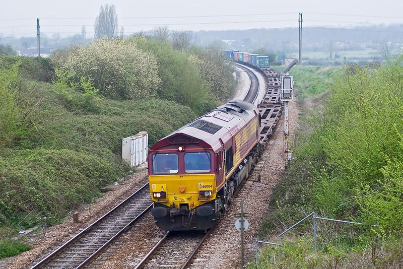 12th Apr 07:  66084, 4O55 Washwood Heath to Southampton Intermodal