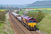 12th Apr 07  The classic view at Norton Bavant for 66002 heading 7O26 from Hinksey to Eastleigh