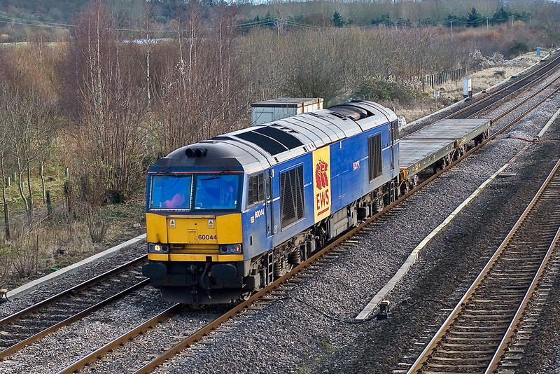 3rd Dec:  Not much traffic on the Marchwood but at least it gave me a shot of 60044 which had managed to elude me for some time