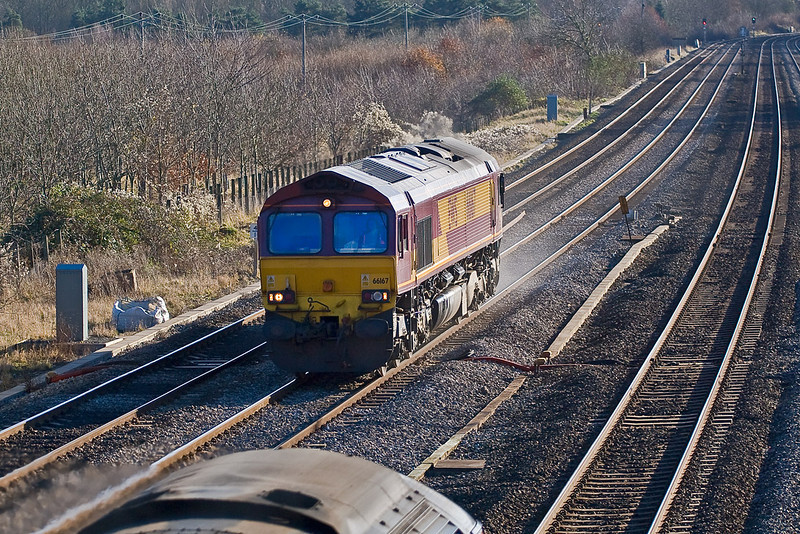 3rd Dec:  66167 heads for Didcot, it was to return later with an MoD service to Wembley