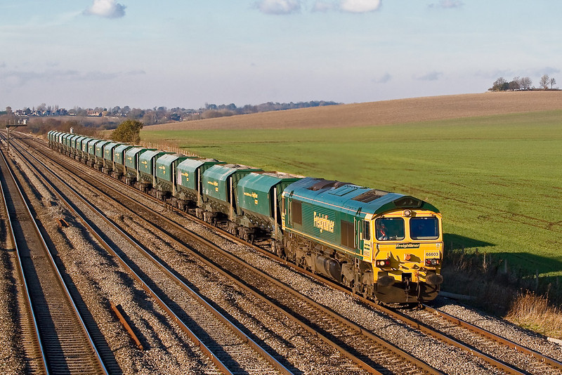15th Nov 07:  The 6Z43 from Bristol Parkway to Angerstein Wharf in the hands of 66603