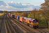 14th Nov 07: The 12.19 Intermodal from Washwood Heath to Southampton in the hands of 66080