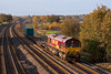 6th Nov 07:  With the last of the Autumn colours glowing in the Afternoon sun 66144 runs through Lower Basidon with the 12.15 from Washwood Heath