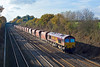 21st Nov 07:  With Ex RMC and NP hoppers in tow 66085 powers 6Z20 to St Pancrass from Merehead