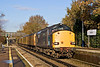 22nd Nov 07:  37608 Leads 37612 down the hill through Bagshot on the Ascot to Aldershot leg of today's Serco run.