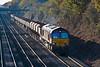 21st Nov 07:  Hauling 31 loaded 4 wheelers 66188 on the Appleford to West Drayton