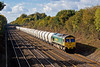 30th Oct 07: Passing through Shottesbrooke is 66559 working the cement empties back to the Earles Cement works