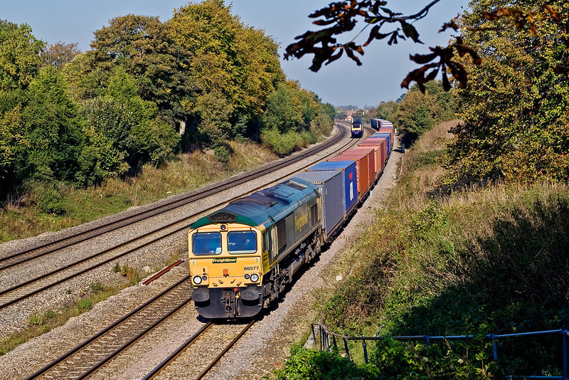 23rd Oct 07:  A full load for the day's Wentloog to Southampton liner.