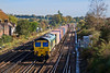 18th Oct 07: 4O14 the 05.28 from Garston with 66533 on the point at Worting Junction.