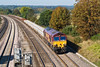 5th Oct 07:   A good load for the day's Hinksey to Eastleigh Departmental. with 66094 on the point