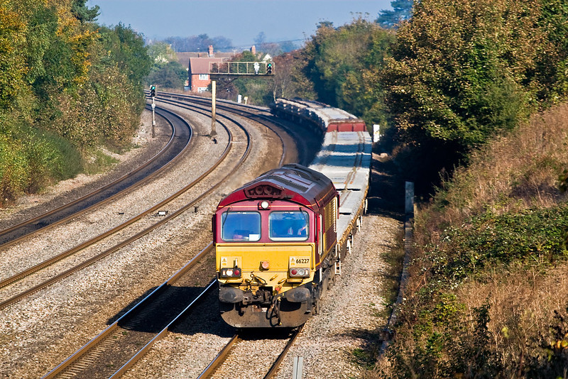 23rd Oct 07: 66227 on 6O26, 10.24 Hinksey to Eastleigh Departmental