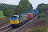 26th Oct 07:  Allowed out to play again, Southampton shunter 57006 powers the 15.00 Millbrook to Coatbridge through Silchester