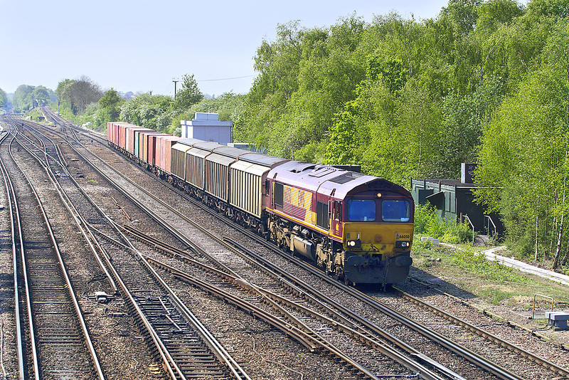 30th Apr: 66050 with an MOD stores train for Didcot