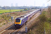 7th Apr 07:  43023 hurtles West as 66089 waits in the loop at Steventon