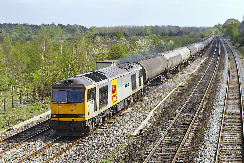 18th Apr 07:  6E55 the Theale to Lindsey empty oil tanks is in the hands of 60055