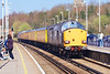 5th Apr 07:  Now with 37609 leading as it enters Wokingham Station