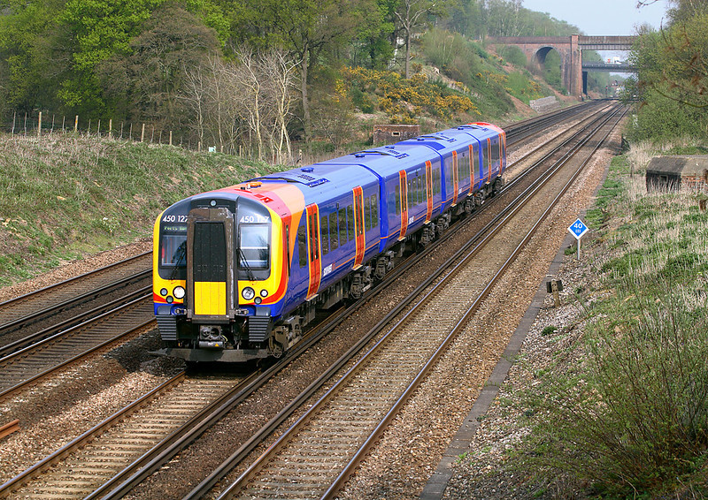 16th: Apr 07:  The final Desiro 450127 heads for Portsmouth Harbour