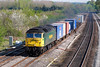 19th Apr 07:  57003 storms through heading for Coatbridge