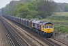 23rd Apr 07:  Doing the honours this week on the Mountfield to Southampton Gypsum containers is 66717.
