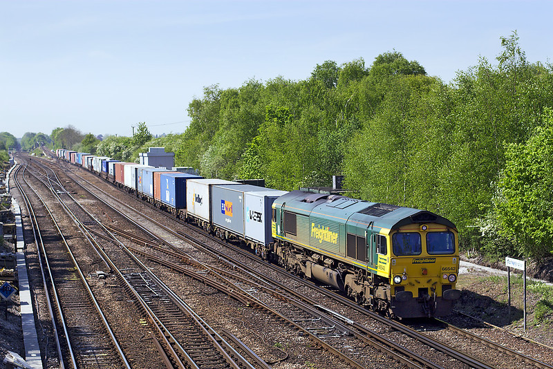 30th Apr: An hour into the journey 66542 heads for Ditton