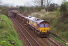 10th Apr 07: 66174 on 6V41 Easteleigh to Westbury Engineers at Awbridge