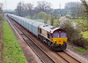 10th Apr 07:  66077 leads covered car wagons from the Eastern Docks to Washwood Heath
