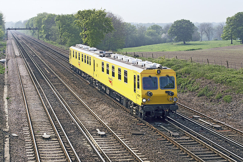 27th Apr 07: Euroscout test vehicle 999701 hurries back to Waterloo from Totton (Southampton)