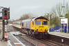 27th Feb 07:  66702 charges through Bramley on 5Z88 from Kineton to Eastleigh.  The coaches are for export