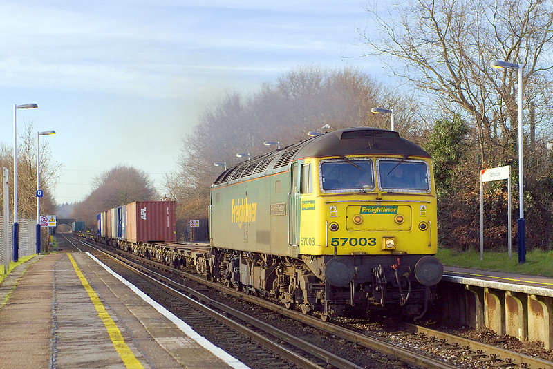 14th Feb 07:  57003 powers through on the 4O35 Crewe to Southampton