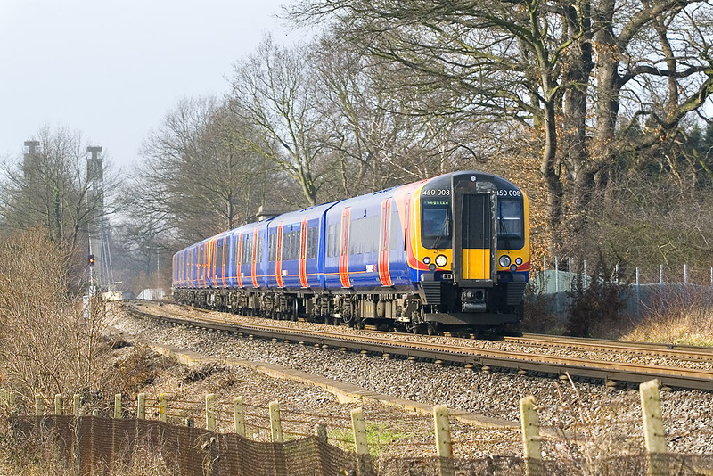 17th Feb 07:   450008/073 pass with a diverted Basingstoke stopper
