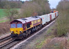 7th Feb 07: 66141 wheels 6M66 to Foundry Lane northwards through Silchester