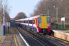 14th Feb 07: 458024 leads throu Addlestone on a test run