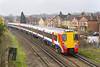 19th Feb 07:  Juniper 458024 slows as it nears Egham station