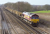 15th Feb 07:  66177 brings a load of Continous Welded Rail slowly East