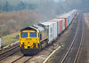 20th Feb 07:  4M58 with 66536 at the helm heads for Ditton from Southampton