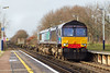 28th Feb 07: Hired in DRS 66419 is captured at Addlestone while working 4O35 from Crewe to Southampton