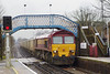 14th Feb 07: 59206 brings the Woking to Acton stone emptes into the station