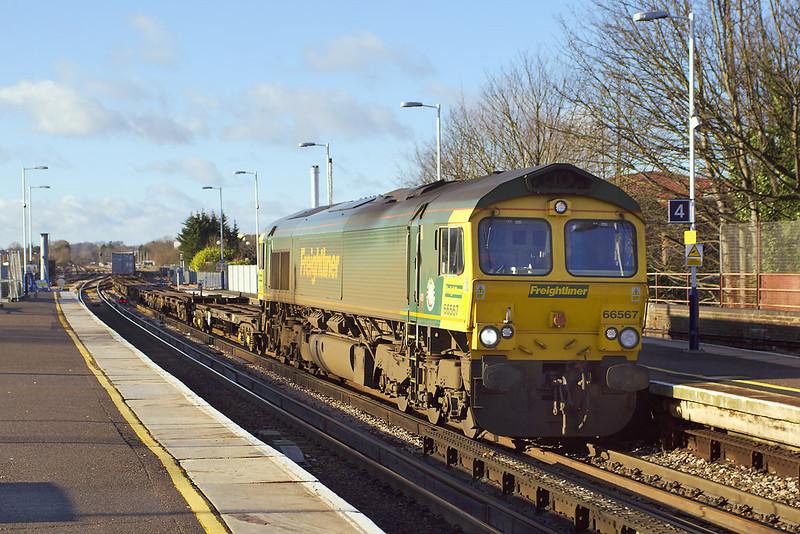 10th Jan: 66567. 4M58 Southampton to Ditton