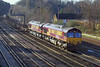 25th Jan 07:  66030/136 head 6M44 Eastleigh to Wembley Enterprise up the slow line