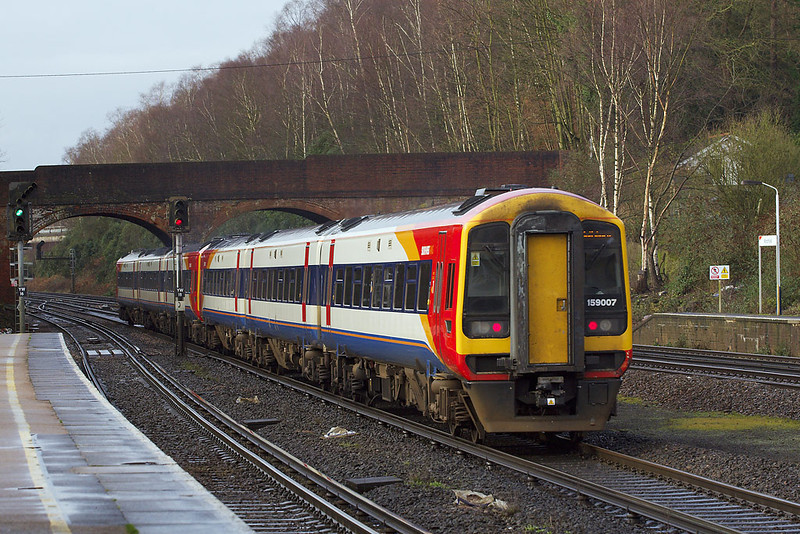 22nd Jan 07: 159007 heads for Yeovil Junction