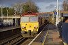 17th Jan 07: 59203 charges westward with 6V67 Sevington to Merehead empty stone boxes