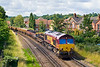 9th Jul 07:  the 6Y41 Eastleigh to Hoo Junction Deparmental plods through with 66184 on the point