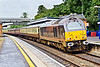 2nd Jul 07:  Royay skip 67006 is looking rather grubby as it brings an ECS working through Taplow