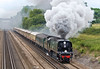 11th Jul 07:  Tangmere heads away from the water stop at Winchfield with the day's running of the VSOE from Victoria to Bristol