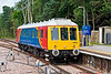 """16th Jul:   SWT Bubble car 960012 enters Ascot Platform 1 from Farnham.  The Network Rail """"Foliage Inspection Tour"""" reversed and worked to Salisbury via Guildford and Basingstoke"""