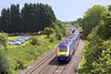 3rd Jun 07:  On a beautuful Sunday morning a West of England service crosses Hungerford Common.  The start of the Up Goods Loop can be seen in the distance