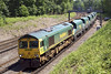 5th Jun 07:  Regular power for 6O49  66622 and the Neasden to Wool sand empties. Pirbright