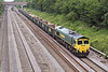 7th Jun 07:  Unusually running on a Thursday 66564 heads 6Z19 from Reading Yard to Croft