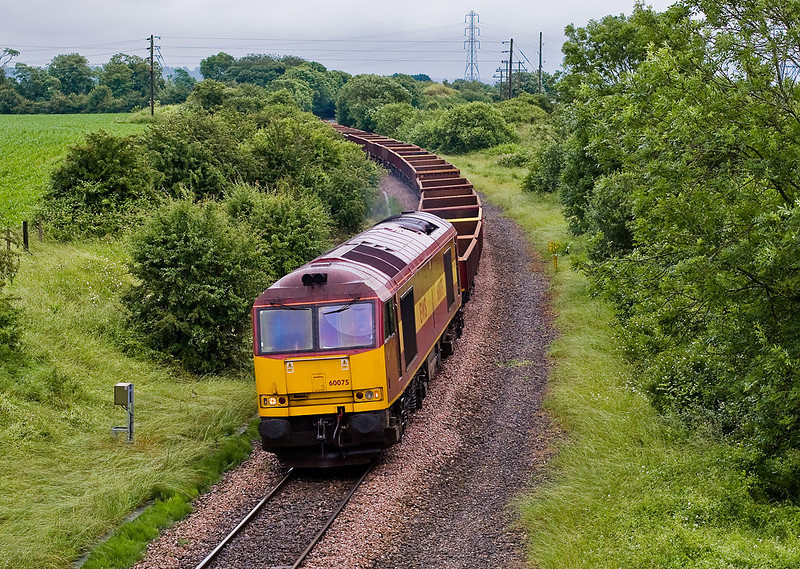 25th Jun 07:  60075 nears Thingley Junction with a departmental service from Westbury
